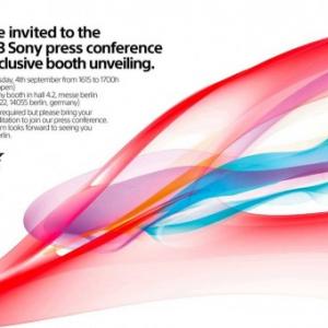 """Sony、IFA 2013のプレスカンファレンスを9月4日に開催、""""Honami""""を発表か?"""