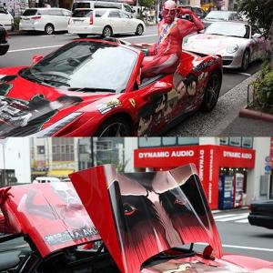 【アキバックス】『進撃の巨人』DVD発売記念 痛フェラーリがアキバに登場! 超大型巨人がモチーフ