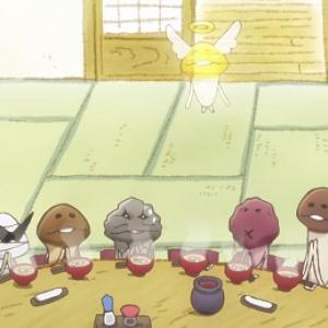 んふんふ「岩なめこ」がお父さん! ほんわか新作アニメ『なめこ家の一族』配信中! 夏っぽいくじもあるよ