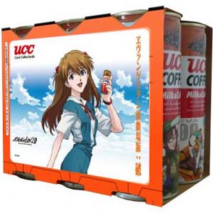 『破』の大ヒットを記念して『UCC COFFEE ミルク&コーヒーヱヴァンゲリヲン缶250g大ヒット記念6缶パック』発売