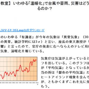 【科学の教室】いわゆる「温暖化」で台風や豪雨、災害はどうなっているのか?(中部大学教授 武田邦彦)