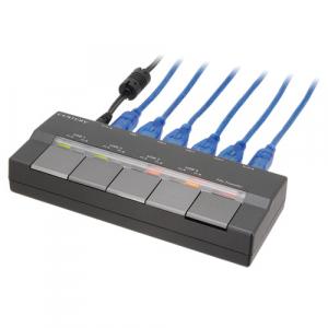 2台のPCにつないで使う4ポートUSBハブ『チョイス&シェア USB Hub名人(CHM-SW4P)』
