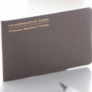 お財布や名刺ケースにぴったり入る! 薄くて軽い『カードメモ』発売へ