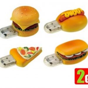 ハンバーガーとピザ、どっちが好き? 『ファーストフードUSBメモリー』4タイプ発売へ