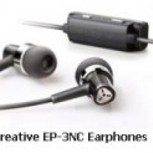 外部ノイズを最大90%オフ、迫力の重低音が楽しめるイヤホン『Creative EP-3NC』発売へ