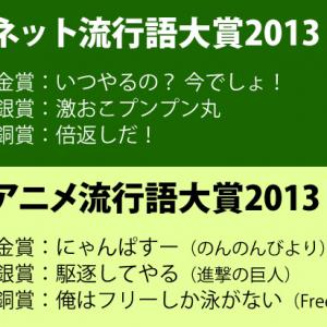 『ネット流行語大賞 2013』『アニメ流行語大賞 2013』をそれぞれ発表! それぞれの今年の大賞は?