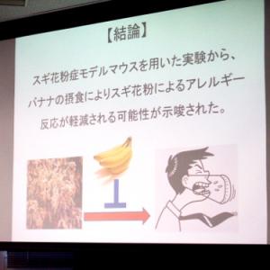 これから迎える辛い花粉の季節に朗報! バナナが若い男性のスギ花粉症を軽減すると筑波大学の研究グループが発表