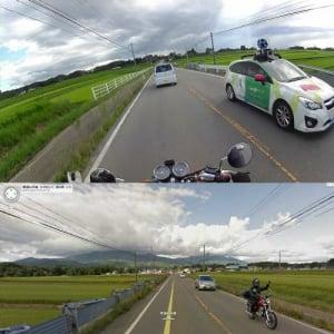 Googleストリートビューカーを撮影したら撮影された写真が凄い! 超偶然発生で1万リツイート越え