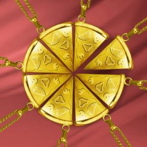 最高に美しく最高にウマそう? ピザハットが黄金(18K)のピザネックレスをプレゼントするキャンペーン実施中