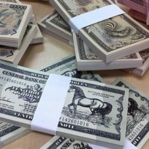 とても贅沢に見える「架空紙幣メモ用紙」を販売します
