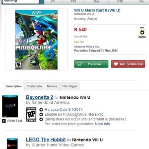 『Wii U』キラータイトルの発売日が判明か? 『マリオカート8』3月31日で『ベヨネッタ2』は5月1日との記載発見