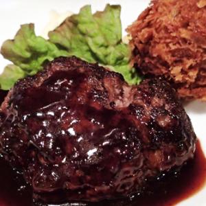 恵比寿ランチ:昼から肉を頬ばる ハンバーグステーキーー黒毛七厘 (味:★5 雰囲気:★4)