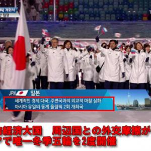 【五輪】韓国のテレビ局がソチ五輪開幕式で日本を政治的ネガキャン紹介 五輪に政治を持ち込む韓国