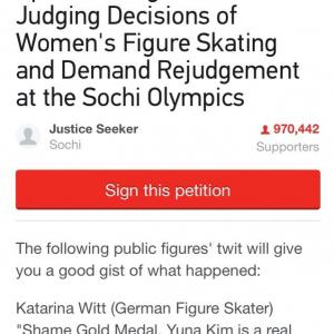 【ソチ五輪】キム・ヨナの銀メダルに不服 再審査を求める署名活動が行われる IOC公式Facebookにもクレーム