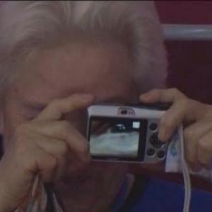 【ソチ五輪】アイスホッケー観戦に来ていたお婆ちゃんの画像が話題に!