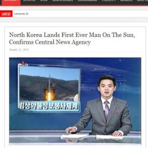 「北朝鮮が太陽に初めて上陸」という記事は海外ネタサイトによるものだった