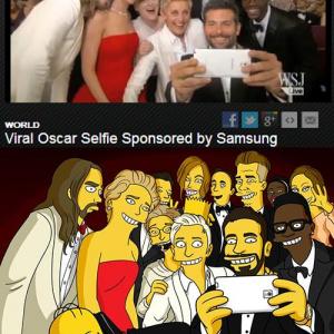 320万リツートされたアカデミー賞の写真 シンプソンズ公式『Twitter』がアニメ化