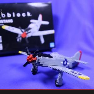 """【おもちゃ攻略】『nanoblock』で作る最高のレシプロ戦闘機""""P-51ムスタング""""がかっこいい!(動画)"""
