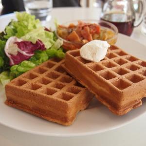 代官山ランチ:古き良きアメリカ風のワッフルはシロップ多めで!ーーWaffle'S(味★4 オシャレ度★4)