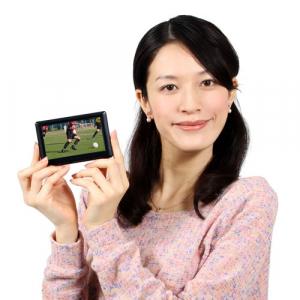 タッチパネル操作でワンセグ放送を視聴できる『ワンセグ内蔵MP4プレーヤー』