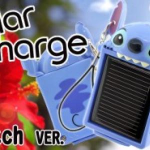 超小型ソーラー充電器ストラップに『スティッチ』バージョンが登場!