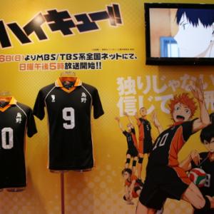 """『ハイキュー!!』TVアニメ放送開始前に期待度アップ! """"ヒナガラス""""も応援に駆けつけた「Anime Japan 2014」"""