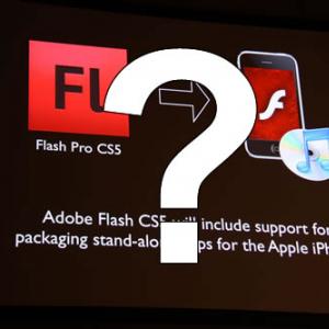 新iPhoneOSで発表直前の『Flash CS5』によるiPhoneアプリ書き出しに暗雲? アドビ「開発を継続する」