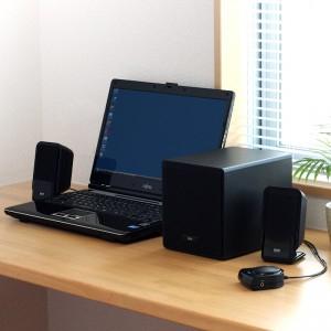 ノートPCや『iPhone』などの音声を大迫力で!『2.1chマルチメディアスピーカー』