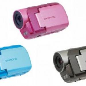 5980円! ナイトモード搭載のデジタルムービーカメラ『EXEMODE DV330』発売