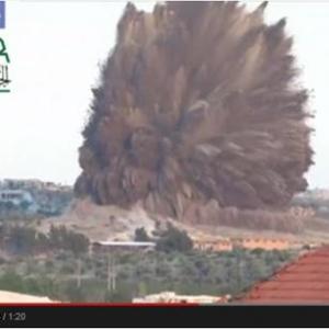 【動画】60トンの爆薬で基地を地下から爆破! シリア反政府軍の古典的な新戦術