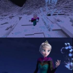 『アナと雪の女王』の『Let It Go』を『マインクラフト』で再現した動画が話題 比較動画も公開