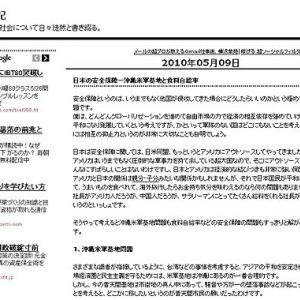 日本の安全保障-沖縄米軍基地と食料自給率