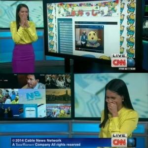 ふなっしーがCNNに取り上げられアナウンサーが大爆笑(動画)