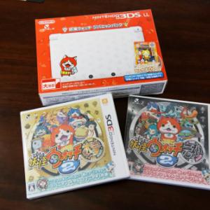 【フォトレビュー】『Nintendo 3DS LL 妖怪ウォッチ ジバニャンパック』+『妖怪ウォッチ2』