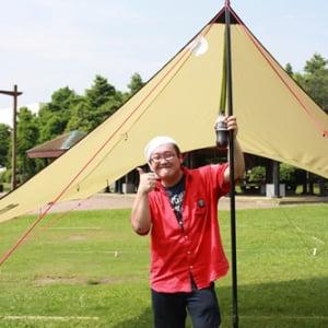 ひとりで設置可能な快適タープ「NEMO シャドウキャスター」をキャンプ経験のない人が設営してみました[焚き火部]