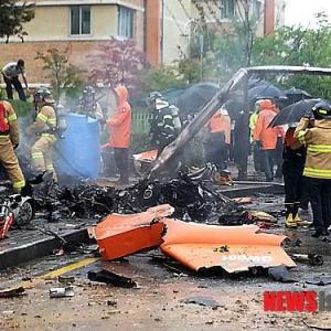 韓国でセウォル号サポート消防ヘリが墜落 5人死亡