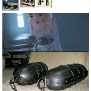 『アナと雪の女王』でエルサが拘束時につけられた鉄製拘束具を再現してヤフオクに出品!