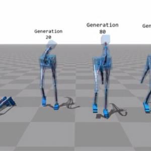 【動画】歩き方を学習するコンピュータシミュレーションが人間っぽくて笑える