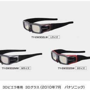 Sサイズは世界最軽量! 軽くてかけやすい『3Dビエラ専用 3Dグラス』3機種追加へ