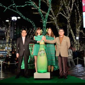表参道ケヤキ並木がライトアップ!今年は、グリーンのツリーが3本点灯!