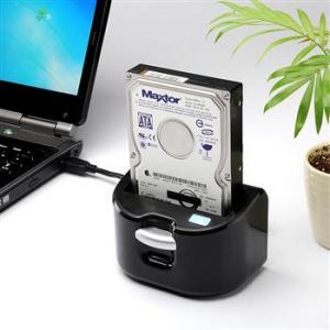 USB3.0に対応するクレードル型のHDDリーダーライター