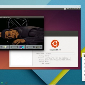 Chrome OS上のウィンドウでLinuxが動作可能に