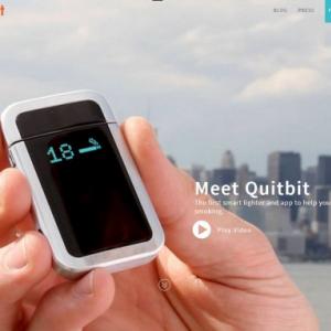 何でもスマート化すりゃいいってもんじゃないよ!(笑) スマートフォンと連動するライター『Quitbit』