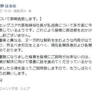所属事務所社長と結婚していたゲームアイドルの杏野はるなさんが『Facebook』で謝罪と説明