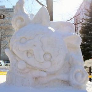 """【さっぽろ雪まつりレポート】『アナ雪』から『ラブライブ!』まで""""キャラもの雪像""""を一挙紹介 妖怪たちが大量発生中!"""