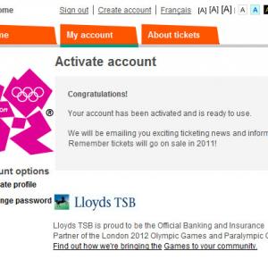 今から2012年開催のロンドンオリンピックの会員登録をしておこう