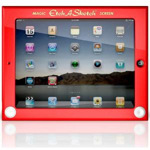 元祖タブレットと合体!? 『iPad』をお絵かきボードにしちゃう『Etch A Sketch iPad ケース』