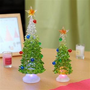 デスクにもクリスマスを! 柔らかな色が変化するクリスタル調のミニ・ツリー予約開始