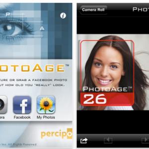 写真で年齢を判別する『PhotoAge』が面白い 合コンで盛り上がるアプリ?