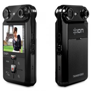 レンズを切り替えて2人同時撮影 ポケットビデオカメラ『Twin Video Portable Recorder』